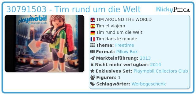 Playmobil 30791503 - Tim rund um die Welt