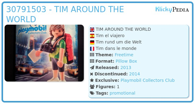 Playmobil 30791503 - TIM AROUND THE WORLD