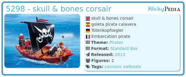 Playmobil 5298 - skull & bones corsair