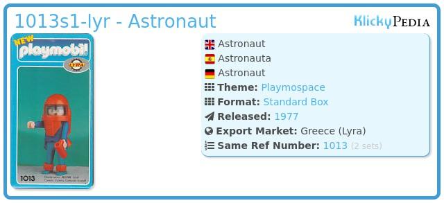 Playmobil 1013-lyr - Astronaut