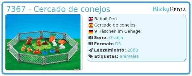 Playmobil 7367 - Cercado de conejos