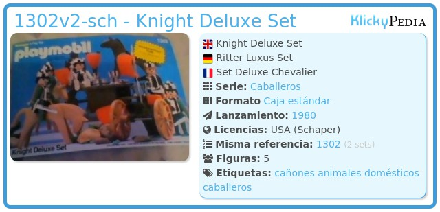 Playmobil 1302v2-sch - Knight Deluxe Set