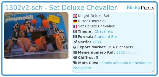 Playmobil 1302v2-sch - Set Deluxe Chevalier