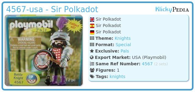 Playmobil 4567-usa - Sir Polkadot