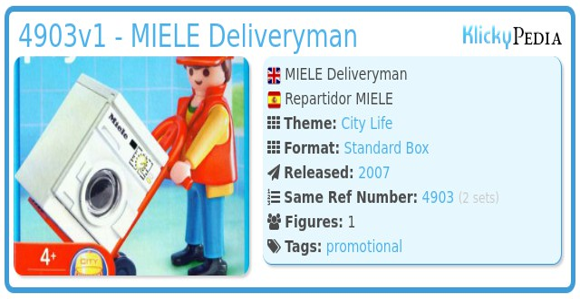 Playmobil 4903v1 - MIELE Deliveryman