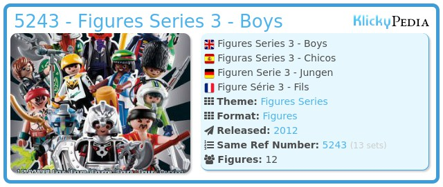 Playmobil 5243 - Figures Series 3 - Boys