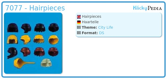 Playmobil 7077 - Hairpieces