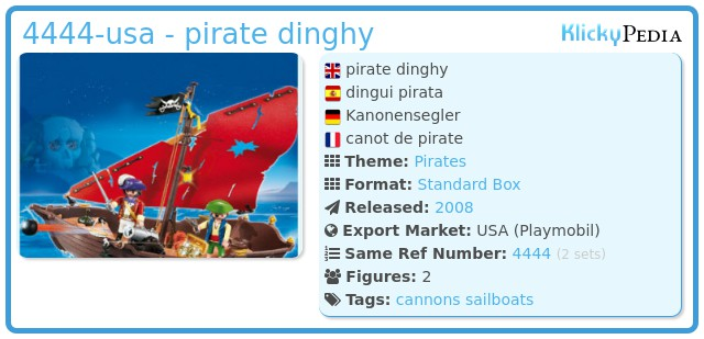 Playmobil 4444-usa - pirate dinghy