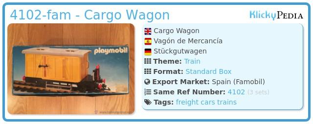 Playmobil 4102-fam - Cargo Wagon