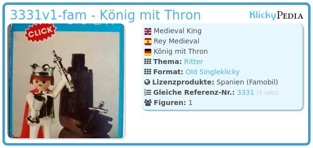 Playmobil 3331v1-fam - König mit Thron