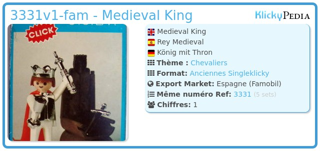Playmobil 3331v1-fam - Medieval King