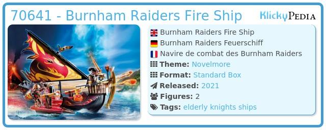 Playmobil 70641 - Burnham Raiders Fire Ship