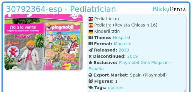 Playmobil 30792364 - Pediatrician nurse