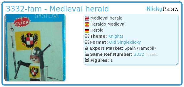 Playmobil 3332-fam - Medieval herald