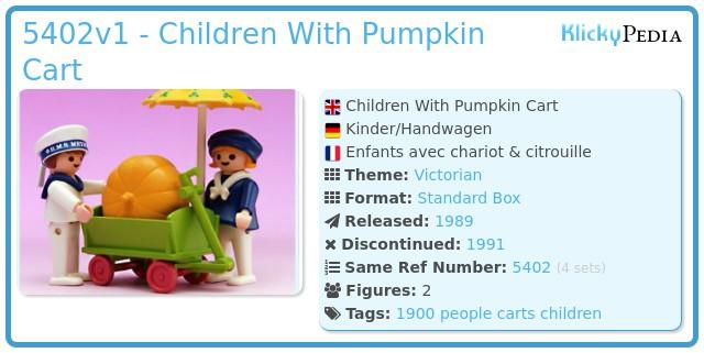 Playmobil 5402v1 - Children With Pumpkin Cart