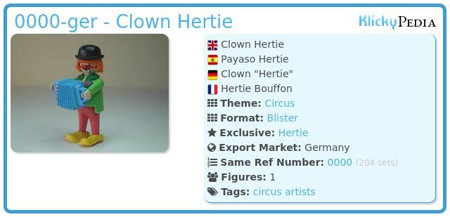 Playmobil 0000-ger - Clown Hertie