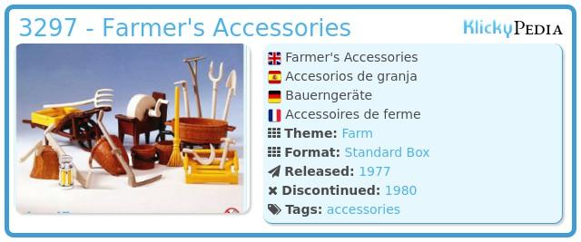Playmobil 3297 - Farmer's Accessories