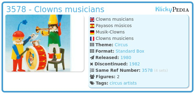 Playmobil 3578 - Clowns musicians