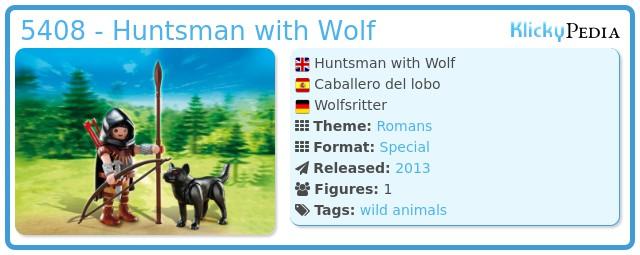 Playmobil 5408 - Huntsman with Wolf