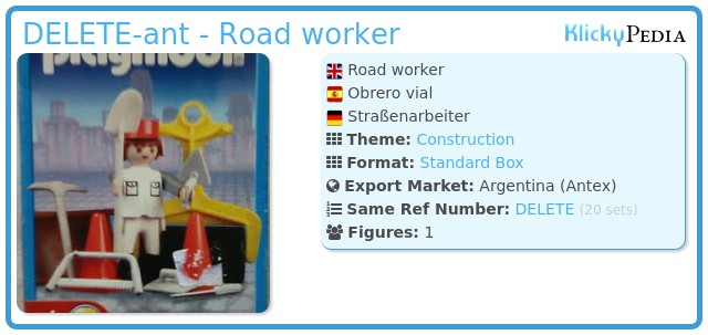 Playmobil 9604-ant - Road worker