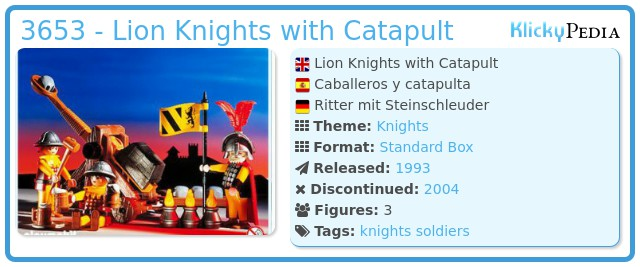 Playmobil 3653 - Lion Knights with Catapult
