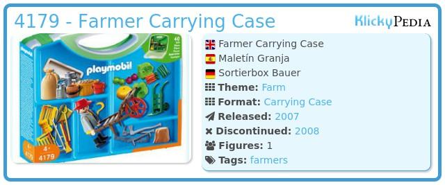 Playmobil 4179 - Farmer Carrying Case