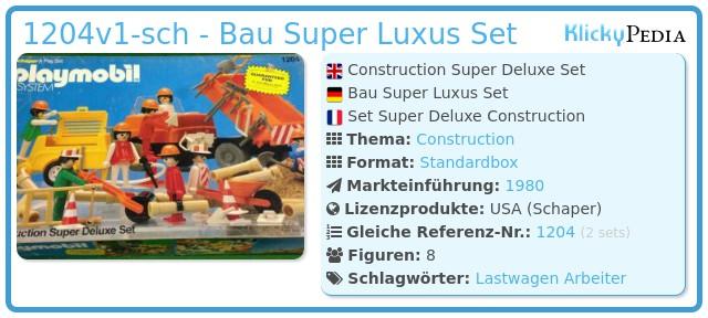 Playmobil 1204v1-sch - Bau Super Luxus Set