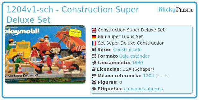 Playmobil 1204v1-sch - Construction Super Deluxe Set