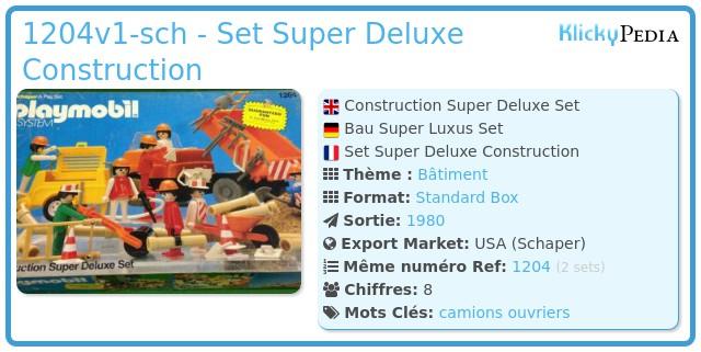 Playmobil 1204v1-sch - Set Super Deluxe Construction