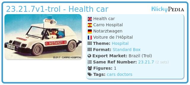 Playmobil 23.21.7-trol - Health car