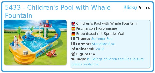 Playmobil 5433 - Children's Pool with Whale Fountain
