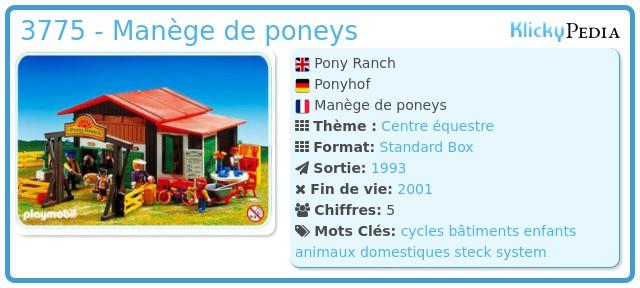 Playmobil 3775 - Pony Ranch