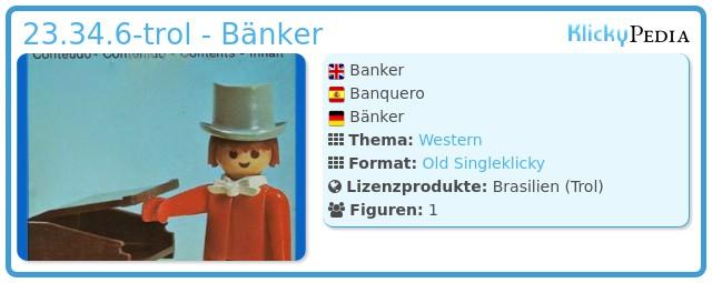 Playmobil 23.34.6-trol - Bänker
