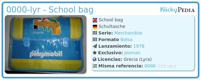 Playmobil 0000-lyr - School bag