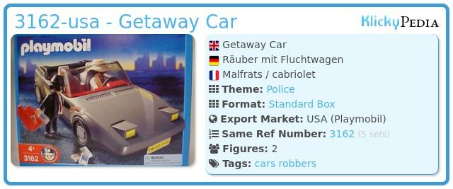 Playmobil 3162-usa - Getaway Car