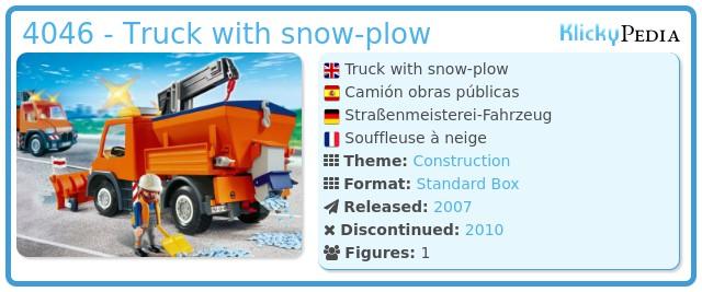 Playmobil 4046 - Straßenmeisterei-Fahrzeug