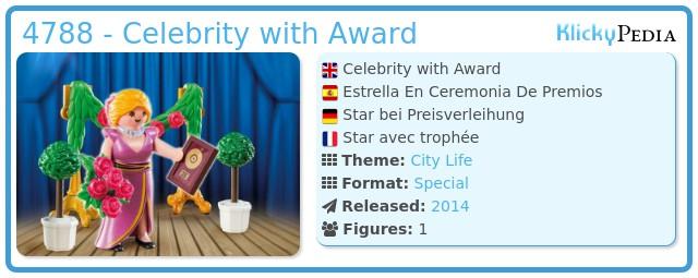 Playmobil 4788 - Celebrity with Award