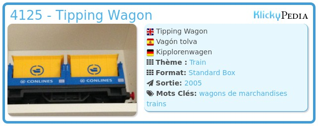 Playmobil 4125 - Tipping Wagon