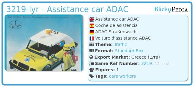 Playmobil 3219-lyr - Assistance car ADAC
