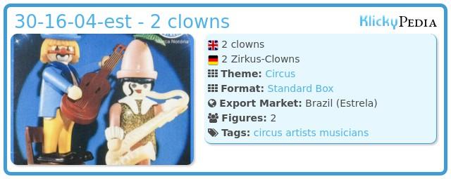 Playmobil 30.16.04-est - 2 clowns