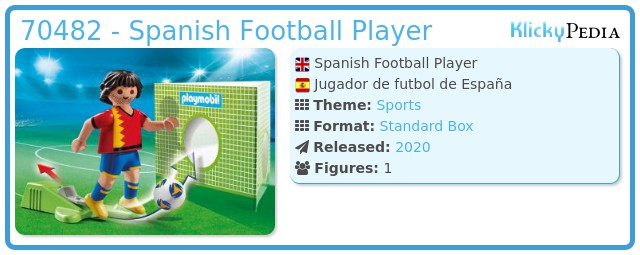 Playmobil 70482 - Spanish Football Player
