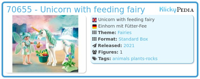 Playmobil 70655 - Unicorn with feeding fairy