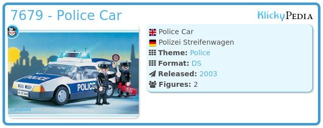 Playmobil 7679 - Police Car