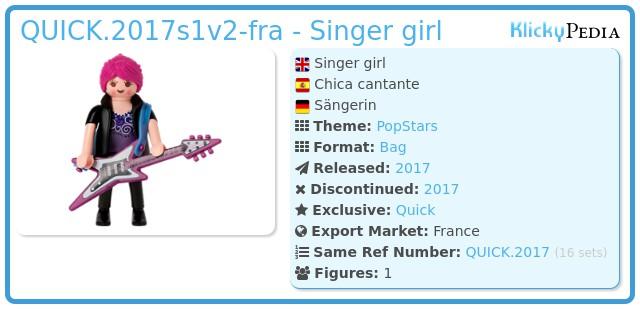 Playmobil QUICK.2017s1v2-fra - Singer girl
