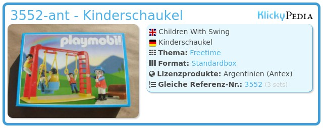 Playmobil 3552-ant - Kinderschaukel