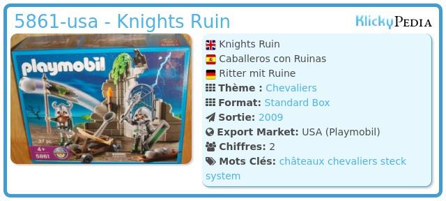 Playmobil 5861-usa - Knights Ruin