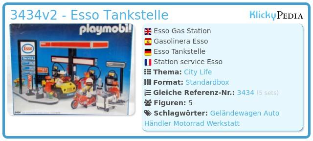 Playmobil 3434v2 - Esso Tankstelle