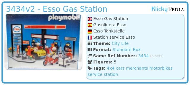 Playmobil 3434v2 - Esso Gas Station