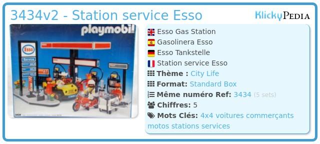 Playmobil 3434v2 - Station service Esso