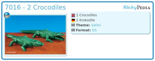 Playmobil 7016 - 2 Crocodiles